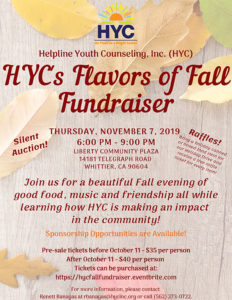 HYC Fall Fundraiser Event